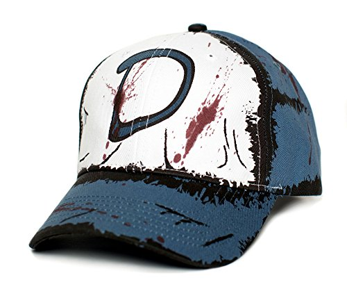 Clementine's Custom Blood Stain & Dirt Dead Zombies Cap Hat Unisex Slate - The Walking Dead Hats
