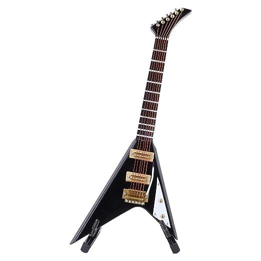 Hztyyier Modelo de Guitarra eléctrica en Miniatura de 18 cm Modelo ...
