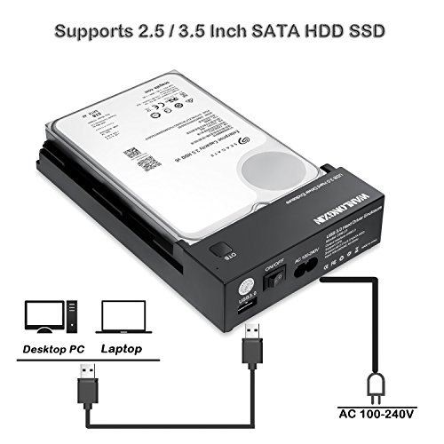 USB 3.0 SATA HD HDD Case Enclosure Box for 2.5 inch Hard Drive Black OTB