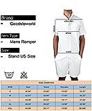 Goodstoworld Mens Fashion Zip Rompers All Print