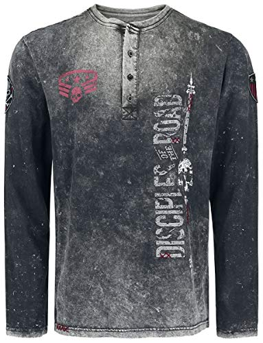 Rock Rebel by EMP Through The Glass Männer Langarmshirt dunkelgrau, Basics, Rockwear