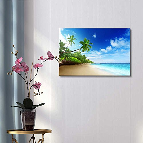 Beautiful Landscape Beach in Sunset Time on Mahe Island in Seychelles Home Deoration Wall Decor ing