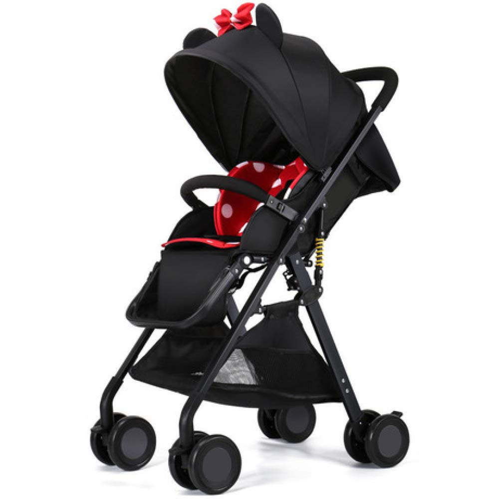 Pink day Baby Carriage Can Sit and Lay Ultra-Light Folding Portable Pocket Umbrella High Landscape Children's Trolley