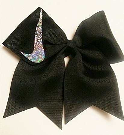 Cheer Bows Black Holographic Nike Hair Bow