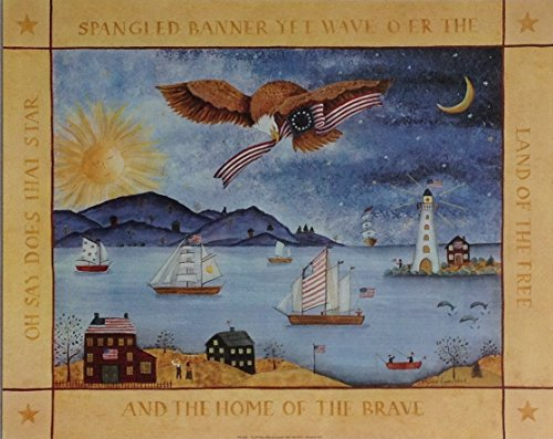 Star Spangled Banner- Valorie Evers Wenk (16x20) Unframed Art Print