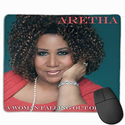JasonARamirez Aretha Franklin A Woman Falling Out of Love,Comfortable,Mouse Pad,Suitable for Office,Games 10X12 Inch