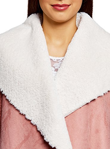 Fourrure Tricot Collection Avec En Artificielle Veste Oodji Femme Col 4b00n Rose SxaRqwC