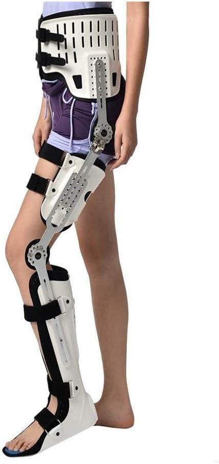 Rodilla apoyo de la ayuda, la cadera rodilla tobillo del pie Ortesis de pierna Fractura, Parálisis de los miembros inferiores, cadera Caminar Caminar fija con la cirugía de rodilla Botas Brace ligamen