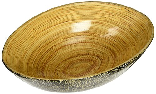 Organize It All 28406-watt Oval Bowl Egg Shell and Bamboo, X-Large