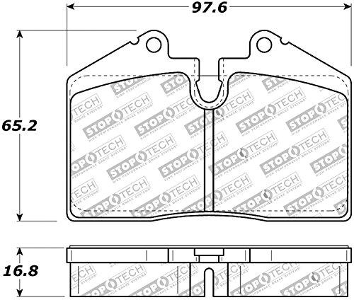 StopTech 308.06080 Street Brake Pads, 4 Pack