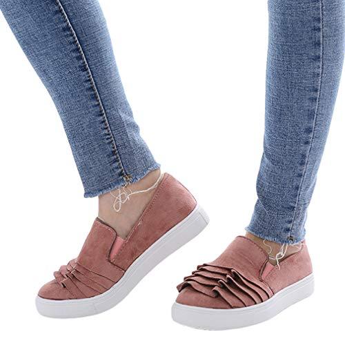 Mujer Moda Encaje Zapatos Mocasines Zapatos Perezosos Retro Cabeza Redonda Zapatos Individuales, Suela de Goma Antideslizante, Trabajo Conducir Zapatos ...
