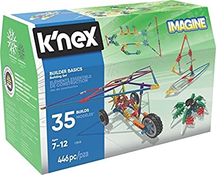 K/'NEX BUILDER BASICS 35 BUILDS 446 PCS KNEX NEW BOXED AGE 7-12