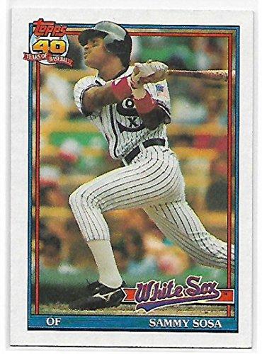 (1991 Topps #414 Sammy Sosa NM-MT White Sox)