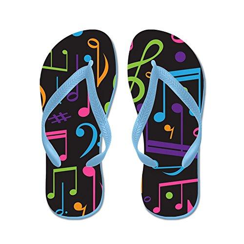 Cafepress Muziek Notities Band Koor - Flip Flops, Grappige String Sandalen, Strand Sandalen Caribbean Blue