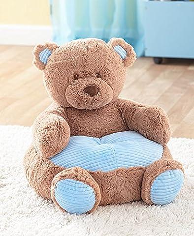 The Lakeside Collection Kids' Plush Blue Bear Chair - Blue Plush Bear