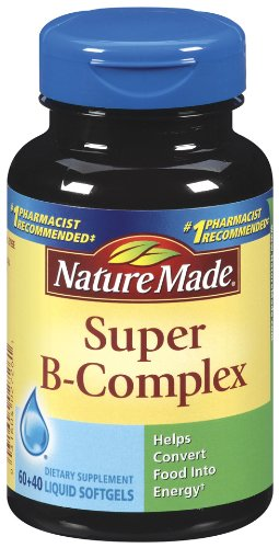 Nature Made super gélules du complexe B, 100 Count