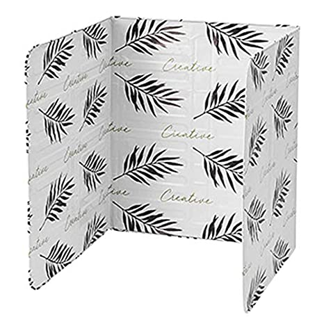 Andifany 1Pcs Kitchen Grease Aluminum Foil Insulation Block Oil Splash Board Cooking Hot Baffle Tin Foil Sheet Aluminum Foil Black