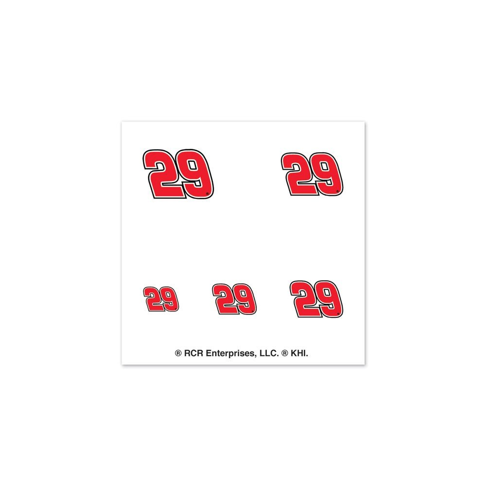 Kevin Harvick Official NASCAR 1 inch Fingernail Tattoo Set by Wincraft