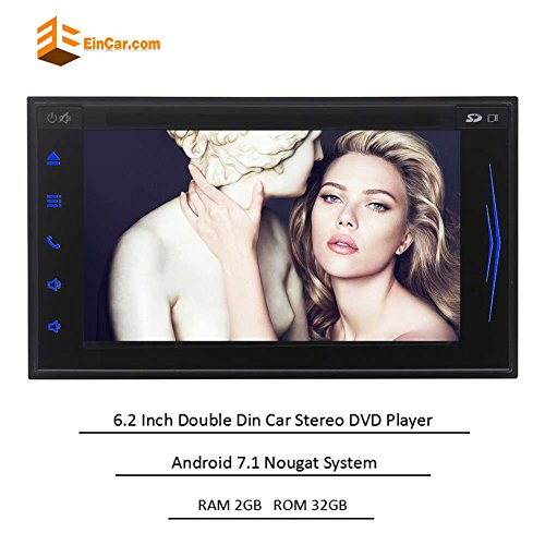 Latest Andorid 7.1 Double Din Car Stereo Octa Core Car CD DVD Player in Dash GPS Navigation with 6.2