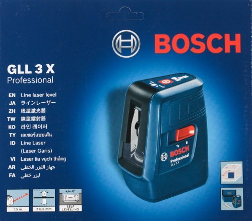 (Bosch GLL 3X Professional Cross Line Laser level with 3 lines by Bosch Professional)