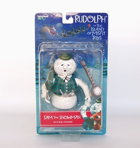 Rudolph Misfit Action Figure - SAM THE SNOWMAN WITH BANJO 2001 by Playing Mantis
