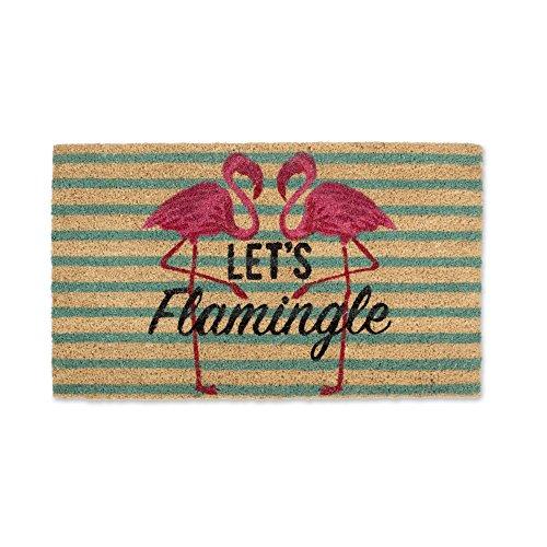 DII DM Doormat, 18x30', Let's Flamingle