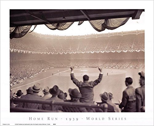 Yankee Stadium - Home Run 1939 World Series New York Yankees vs. Cincinnati Reds 16x13 Vintage Photograph Art Print Poster 1939 Cincinnati Reds