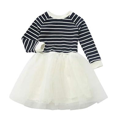 1d745d73d11 OHQ Enfant Bébé Robe De Soiree Fille Chic Mariage Courte Vintage Ronde  Roulé Fermeture Coton Princesse