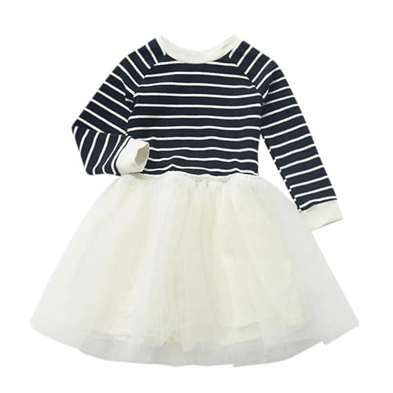 493b8d1b7 Mitlfuny Primavera Verano Ropa Niñas Bebé Princesa Vestidos Manga ...