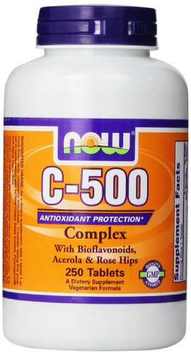 NOW Foods C-500 Complex with Bioflavonoids, Acerola and Rosehips 250 Tablets