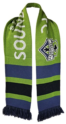 MLS Seattle Sounders FC Neo Bar Scarf, One Size, Green