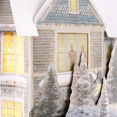 Hallmark Christmas Greeting Card with Light and Song Card (Displayable Dimensional Thomas Kinkade House) Photo #7