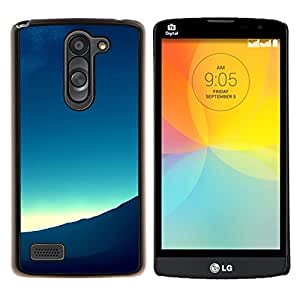 LECELL--Funda protectora / Cubierta / Piel For LG L Bello L Prime -- Mountain View Paisaje Horizonte Amanecer --