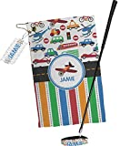 RNK Shops Transportation & Stripes Golf Towel Gift Set (Personalized)