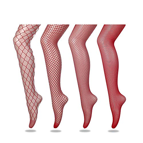 FLORA GUARD High Waist Tights Fishnet Stockings
