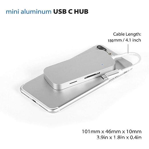 amazon com yrd tech usb type c hub to 5 in 1 compatible macbook hub rh amazon com