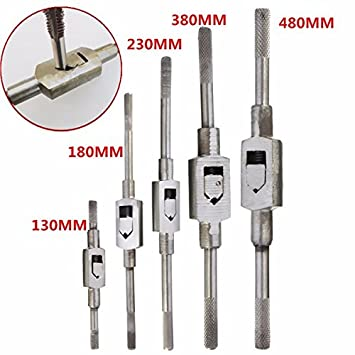 CoCocina 130//180//230//380//480mm Adjustable Tap Wrench M2-M24 Handle Tap Tapping Reamer Tool #3