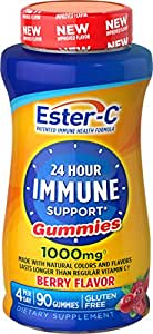 Ester-C Vitamin C, 1000 mg Berry Flavor Gummies, 90 Count