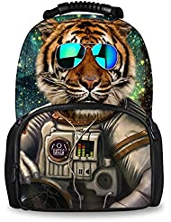 Bigcardesigns Fashion Animal Felt Backpack for Teens Multi-Function Bag