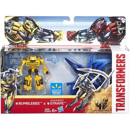 Transformers 4 Bumblebee and Dinobot Strafe 2-Pack Age of Extinction (Transformers Age Of Extinction Bumblebee Toy)