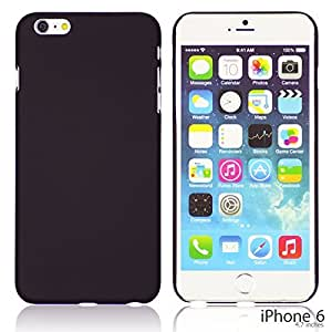 LJF phone case OnlineBestDigital - Comfortable Ultra Thin Solid Color Oil Coated Hard Case for Apple iPhone 6 (4.7 inch)Smartphone - Black with 3 Screen Protectors