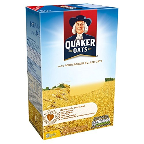 Quaker Oats 100% Wholegrain Rolled Oats - 500 gr: Amazon.es: Alimentación y bebidas