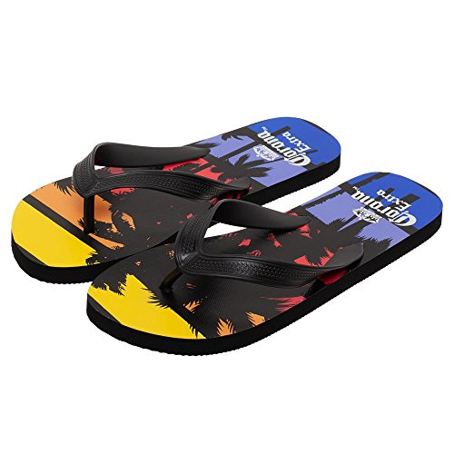 Corona Extra Palm Trees Sunset Unisex Sandals Flip Flops Medium