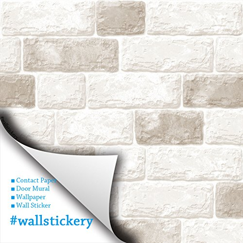 Wallstickery Brick Pattern Contact Paper Prepasted Wallpaper For Wall  Stickers Self Adhesive Removable Peel And Stick DIY Interior Decorating  Home ...