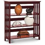 Legacy Decor 3 Tier Mission Style Bookshelves Bookcase Wood Cherry Finish