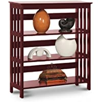 Legacy Decor 3 Tier Mission Style Bookshelves Bookcase Wood Cherry Finish