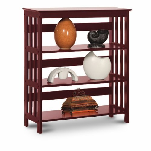 Bookcase Folding Mission - Legacy Decor 3 Tier Mission Style Bookshelves Bookcase Wood Cherry Finish
