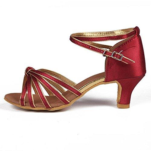 5cm Dark Zapatos Red Latino Tango 7cm Heels 5cm Baile 11corlors Mujer De ballroom Yff 7x10S0