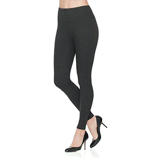 733bbfe9350a29 SPANX Women's Ready-to-Wow Heathered Ponte Leggings, Charcoal, ...