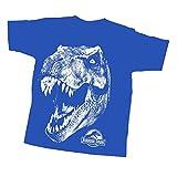 Jurassic Park Big Boys' T-Rex Head, Royal Blue, Youth Small